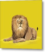 Lion Painting Metal Print