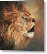 Lion Roar Profile Metal Print