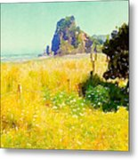 Lion Rock Painted Photo Metal Print