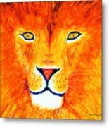 Lion Selfie Color Pop Metal Print