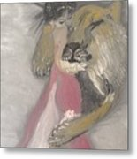 Lady And The Lion Metal Print