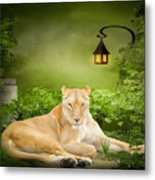Lioness Dream Metal Print