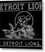 Lions Football Metal Print