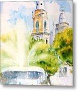 Lions Fountain Plaza Las Delicias  Ponce Cathedral Puerto Rico Metal Print