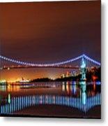 Lions Gate Bridge At Night 2 Metal Print