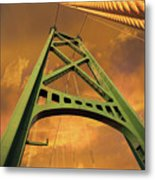 Lions Gate Bridge Tower Metal Print