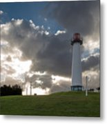 Lion's Lighthouse For Sight - 2 Metal Print