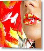 Lips Radiance Metal Print
