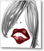 Lips Too Metal Print