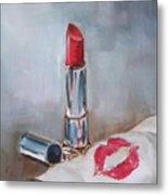 Lipstick Kiss Metal Print