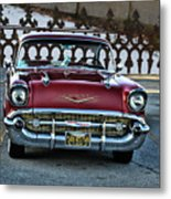 Lipstick Red At The Gate Metal Print
