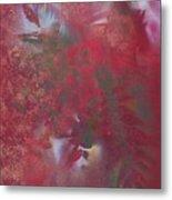 Lipstick Red Illusion Metal Print
