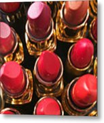 Lipstick Rows Metal Print