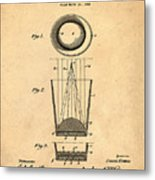 Liquershot Glass Patent 1925 Sepia Metal Print
