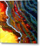Liquid Abstract Fifteen Metal Print