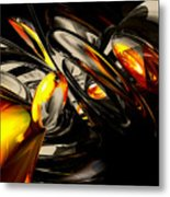 Liquid Chaos Abstract Metal Print