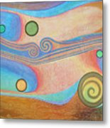 Liquid Crystals Metal Print