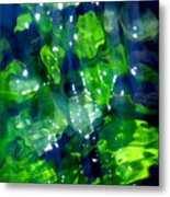 Liquid Leaves Metal Print