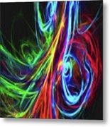 Liquid Neon Metal Print