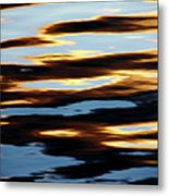 Liquid Setting Sun Metal Print