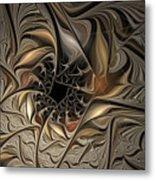 Liquid Silver Metal Print