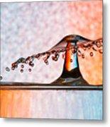 Liquid Umbrella Metal Print