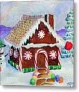 Lisa's Gingerbread House Metal Print
