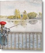 Lisbeth Angling. From A Home By Carl Larsson Metal Print