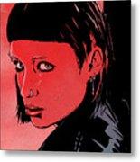 Lisbeth Salander Mara Rooney Metal Print by Giuseppe Cristiano
