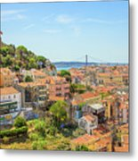 Lisbon Aerial View Metal Print