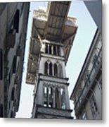 Lisbon City Elevator Metal Print