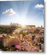 Lisbon Panoramic View To Afama Metal Print