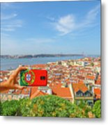 Lisbon Pictures Aerial Metal Print
