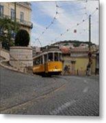 Lisbon Trolley 10 Metal Print