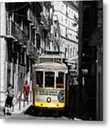 Lisbon Trolley 16c Metal Print
