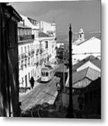 Lisbon Trolley 17b Metal Print