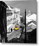 Lisbon Trolley 17c Metal Print