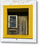 Lisbon Window Metal Print