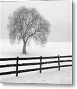 Listen The Snow Is Falling All Around Metal Print