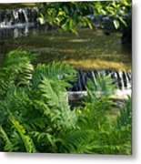 Listen To The Babbling Brook - Green Summer Zen Metal Print