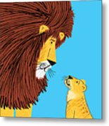 Listen To The Lion Metal Print