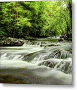 Listening To The Song Of The Stream Metal Print