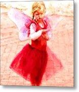 Little Angel Wings Metal Print