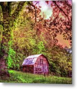 Little Barn In The Smokies Metal Print