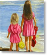 Little Beachcombers Metal Print