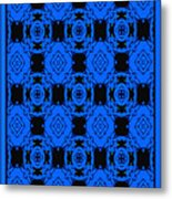 Little Blue Angels Abstract Metal Print