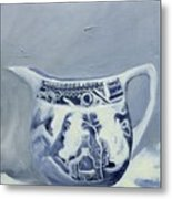 Little Blue Jug Metal Print