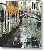 Little Boat In Venice Metal Print