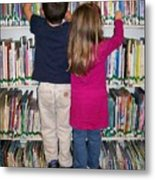 Little Bookworms Metal Print
