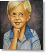 Little Boy Blue Metal Print